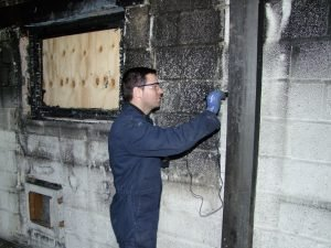 Portable Hardness Fire Damaged Building